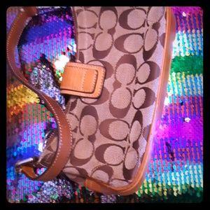 Gently used mini coach bag